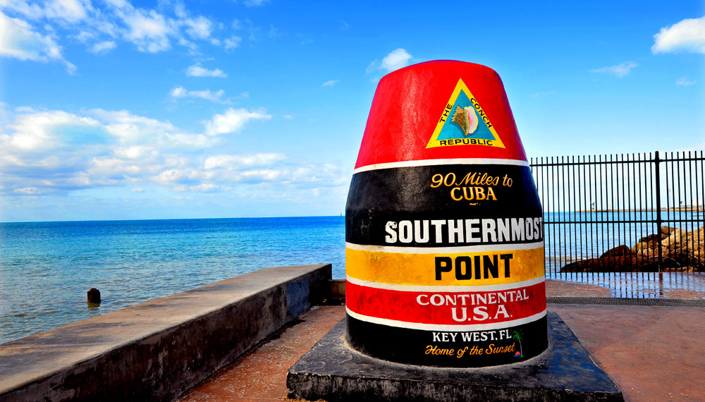 iconic southernmost point sculpture in key west